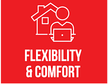 flexibility and comfort